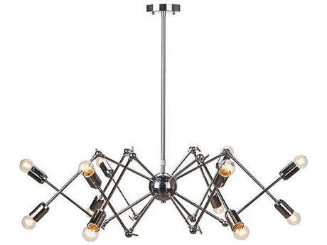 Nuevo Living Shai Silver 12-Light 23.3'' Wide Chandelier NUEHGRA176