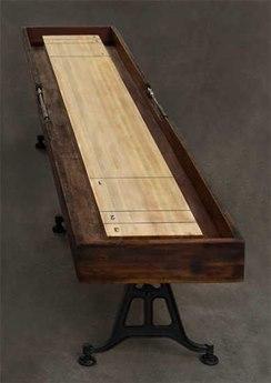 Nuevo Living Shuffleboard Brown Rectangular Gaming Table NUESHUFFLEBOARDGAMINGTABLE