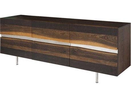 Nuevo Living Sorrento Three-Door 78.8'' x 17.8'' Sideboard Cabinet - Buffee