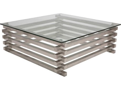 Nuevo Living Stacked Clear 41.5'' Square Coffee Table NUEHGTA902