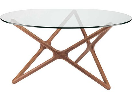 Nuevo Living Star Clear / Brown Round Dining Table NUESTARDININGTABLE