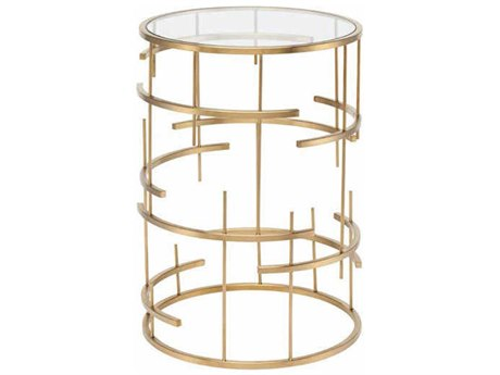 Nuevo Living Tiffany 19.8'' Round Drum Table NUETIFFANYSIDETABLE