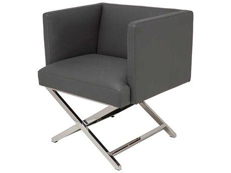 Nuevo Living Trinity Gray Dining Arm Chair