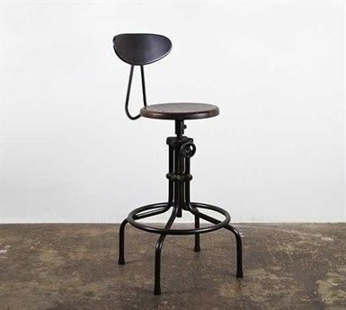 Nuevo Living V19C-B Adjustable Swivel Table / Counter / Bar Stool NUEV19CBADJUSTABLESTOOL