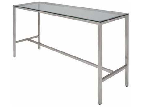 Nuevo Living Verona 72'' x 21.8'' Rectangular Silver Counter Table NUEHGTA750