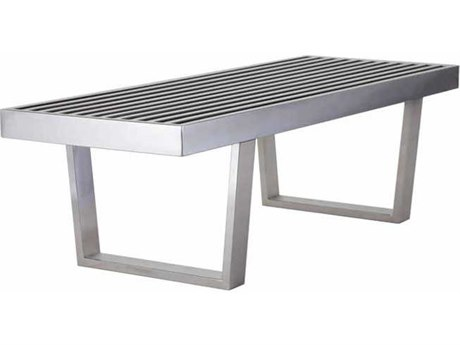 Nuevo Living Zoey Silver Accent Bench