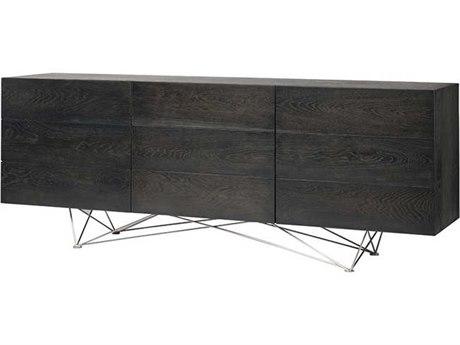 Nuevo Living Zola Brown Three-Door 78.8'' x 18.5'' Sideboard Cabinet - Buffee NUEHGSR464