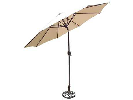 Oakland Living Aluminum 9 feet Tilting & Cranking Umbrella and Stand