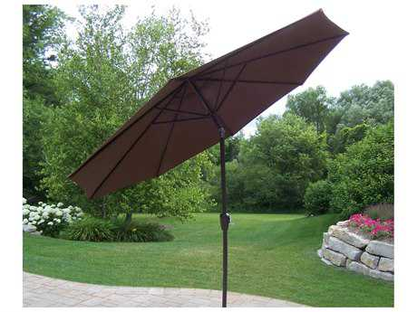 Oakland Living Aluminum 9 feet Umbrella with Crank and Tilt PatioLiving