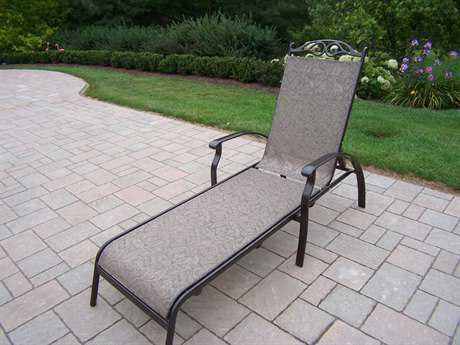 Oakland Living Cascade Aluminum Foldable Sling Chaise Lounge PatioLiving