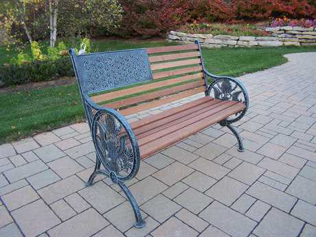 Oakland Living American Eagle Cast Iron Proud American Bench