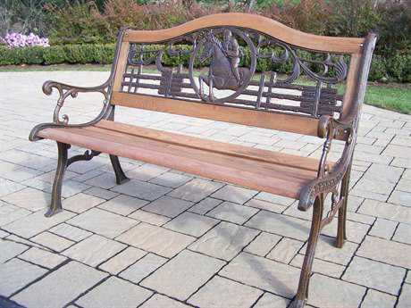 Oakland Living Animals Cast Iron Horse Bench