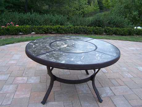 Oakland Living Stone Art Cast Aluminum 44 Round Chat Table