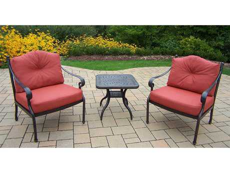 Oakland Living Berkley Aluminum 3-Piece Lounge Set