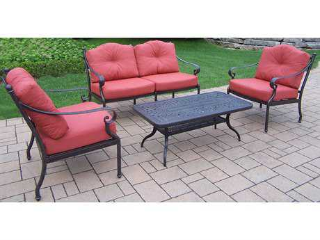 Oakland Living Berkley Aluminum 4-Piece Lounge Set