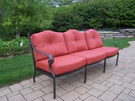 Oakland Living Berkley Aluminum Deep Seating Sofa with Spounpoly Cushions