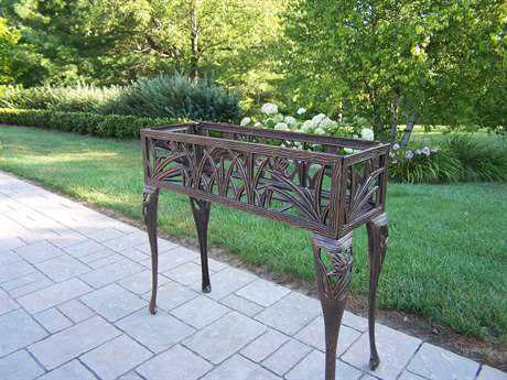 Oakland Living Butterfly Cast Iron Rectangular Plant Stand