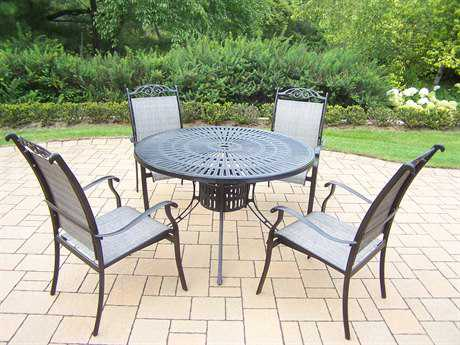 Oakland Living Cascade Aluminum 5-Piece Dining Set