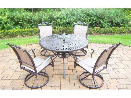 Oakland Living Cascade Aluminum 5 Pc. Dining set