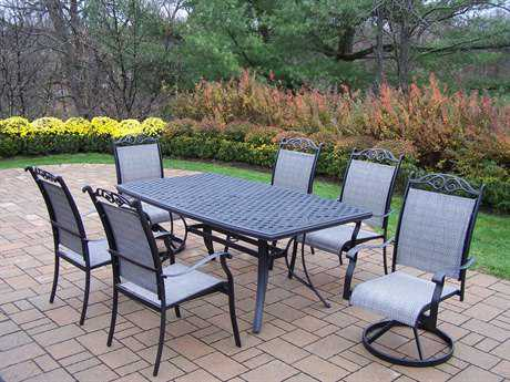 Oakland Living Cascade Aluminum 7 Pc. Dining Set