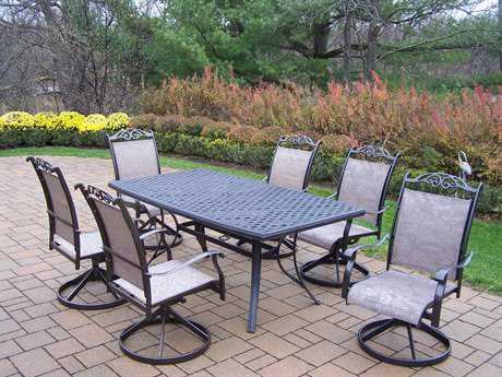 Oakland Living CCascade Aluminum 7 Pc. Dining Set