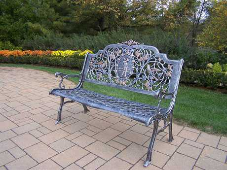 Oakland Living Cast Aluminum Golfer Bench in Antique Pewter