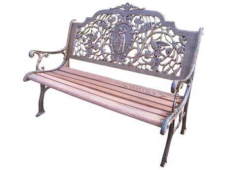 Oakland Living Cast Aluminum Golfer Bench in Antique Bronze