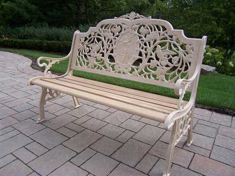 Oakland Living Cast Aluminum Golfer Bench in Beach Sand