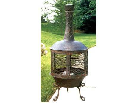 Oakland Living Chimenea Fire Pits Heavy Duty Tower Feast Chimenea with 360 Degree view
