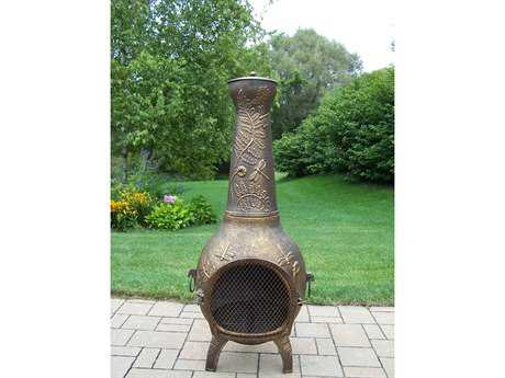 Oakland Living Dragonfly Cast Iron 53 inch Tall Chimenea