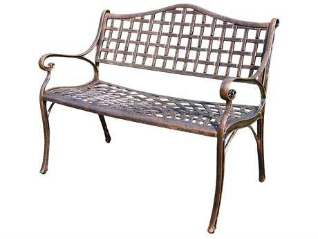 Oakland Living Elite Cast Aluminum Settee Bench in Antique Bronze
