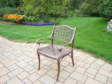 Oakland Living Elite Cast Aluminum Durable Chair in Antique Bronze