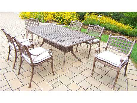 Oakland Living Elite Cast Aluminum 7 Pc. Dining Set with Cushions