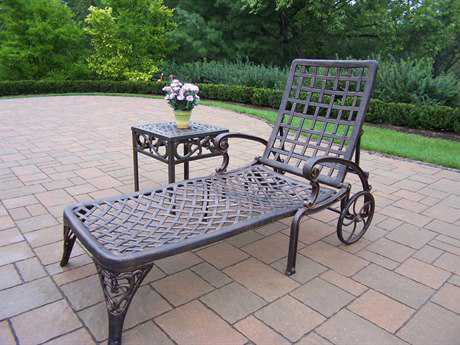 Oakland Living Elite Cast Aluminum 2 Pc. Lounge set