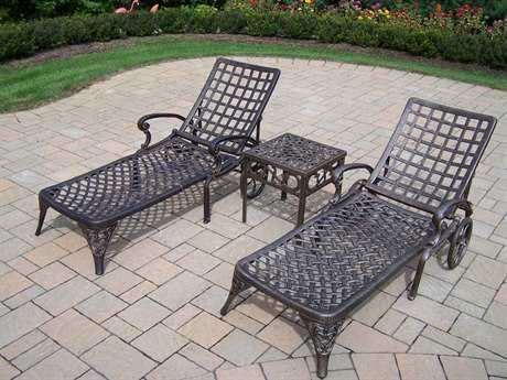Oakland Living Elite Cast Aluminum 3 Pc. Chaise Lounge Set