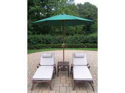 Elite Cast Aluminum 5 Pc. Lounge Set with Umbrella