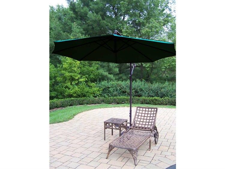 Oakland Living Elite Cast Aluminum 3 Pc. Lounge Set with Umbrella