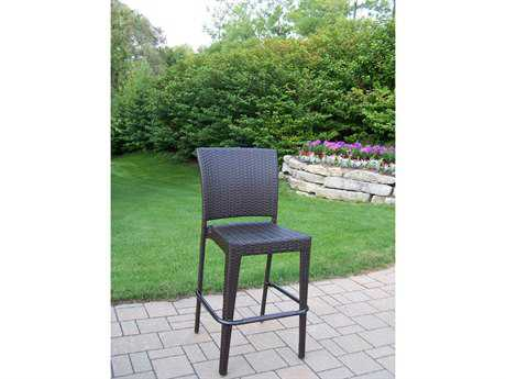 Oakland Living Elite Resin Wicker Bar Stool (Set of 2) PatioLiving