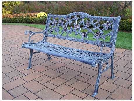 Oakland Living English Rose Cast Aluminum Bench in Antqiue Verdi
