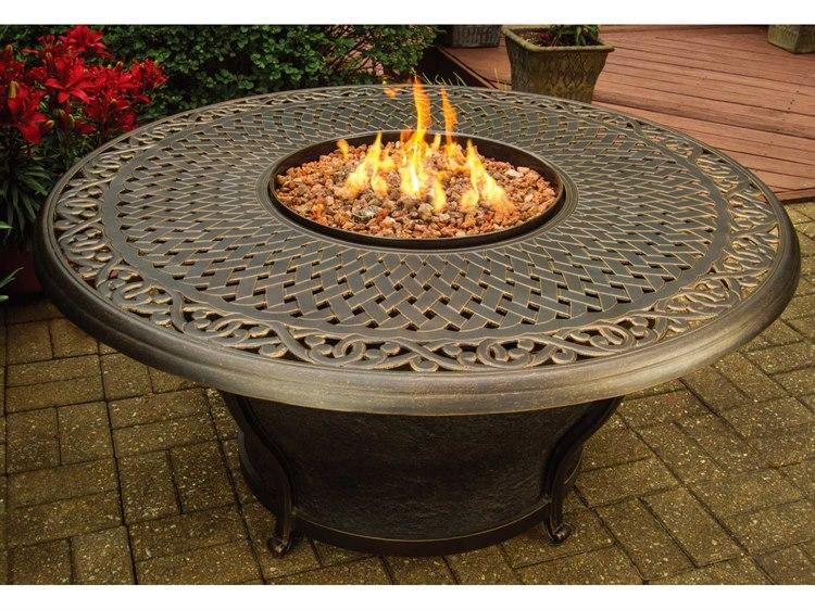 Charleston 48 Round Gas Firepit Table