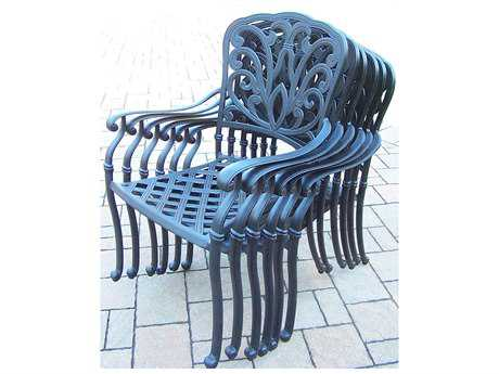 Oakland Living Hamp Aluminum Set of 4 Dining Arm Chairs