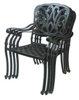 Oakland Living Hampton Aluminum Set of 4 Dining Arm Chairs