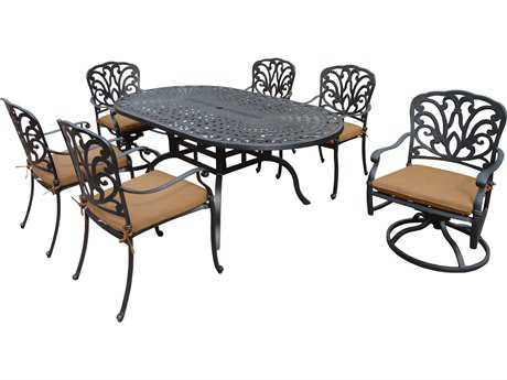 Oakland Living Hampton Aluminum 7 Pc. Dining set with Cushions
