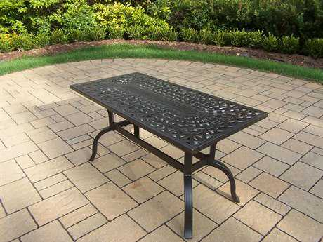 Oakland Living Hampton Aluminum 42 x 21 Rectangular Coffee Table