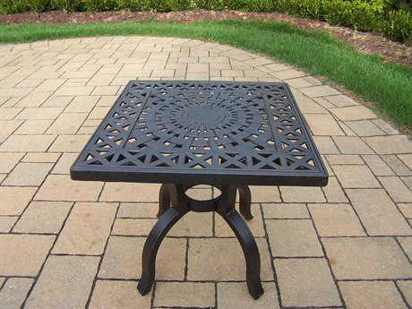 Oakland Living Hampton Aluminum 21 Square Side Table PatioLiving