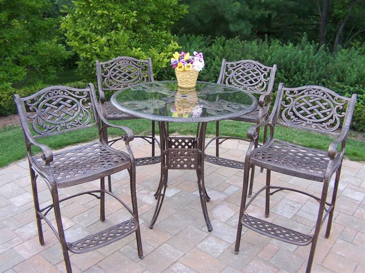 Gothic bistro patio set by Oakland Living