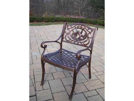 Oakland Living Hummingbird Cast Aluminum Arm Chair in Antique Bronze