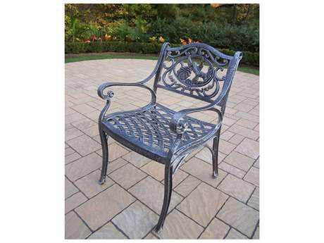 Oakland Living Hummingbird Cast Aluminum Arm Chair in Antique Pewter
