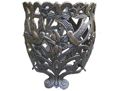 Oakland Living Hummingbird Cast Aluminum 12 Round Flower Pot OL5118AB