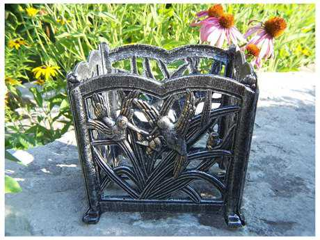 Oakland Living Hummingbird Cast Aluminum 8-inch Square Flower Pot